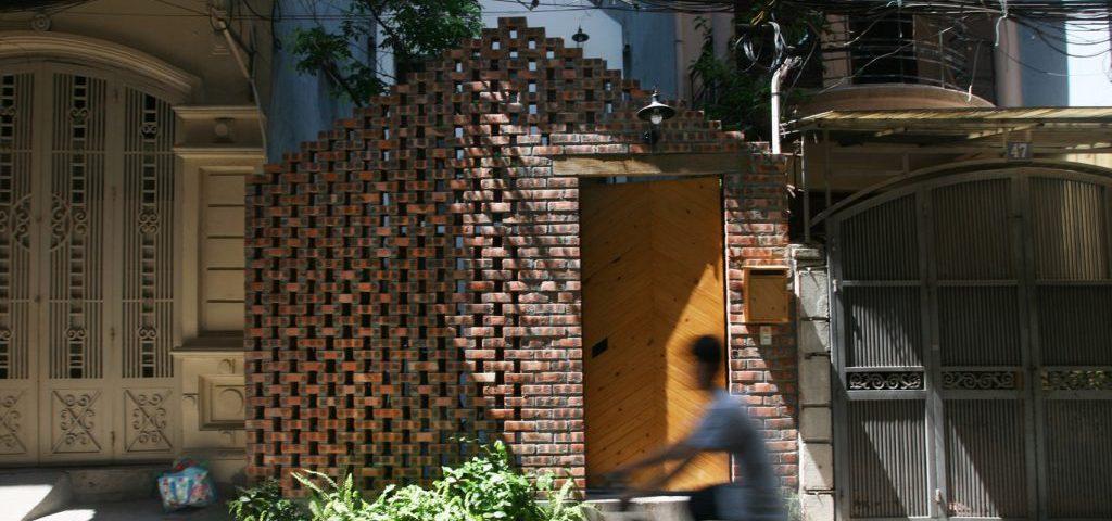 Dise o de fachada de ladrillo perforado ideas de fachada for Fachada de ladrillo