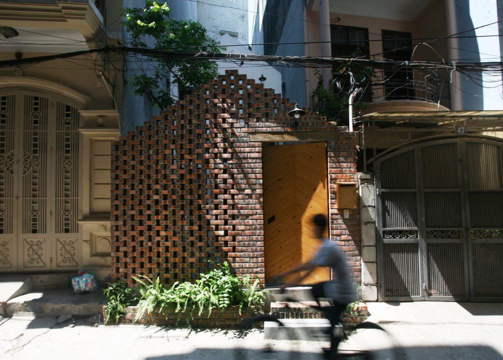 fachada de ladrillo
