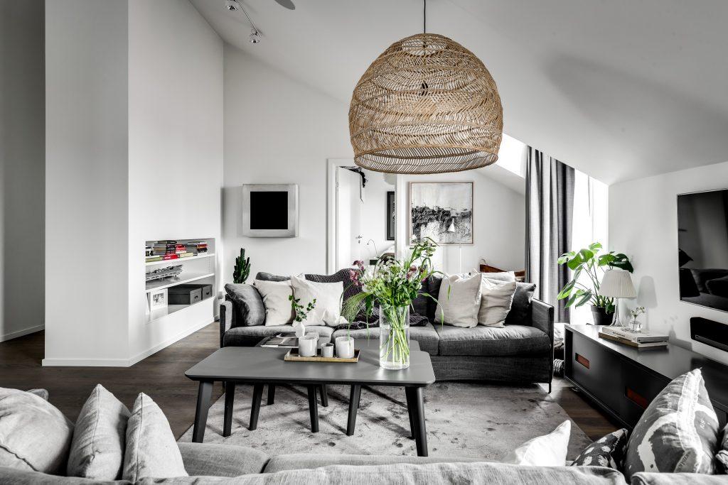 apartamento en gris salon