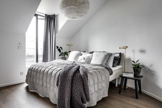 apartamento en gris dormitorio