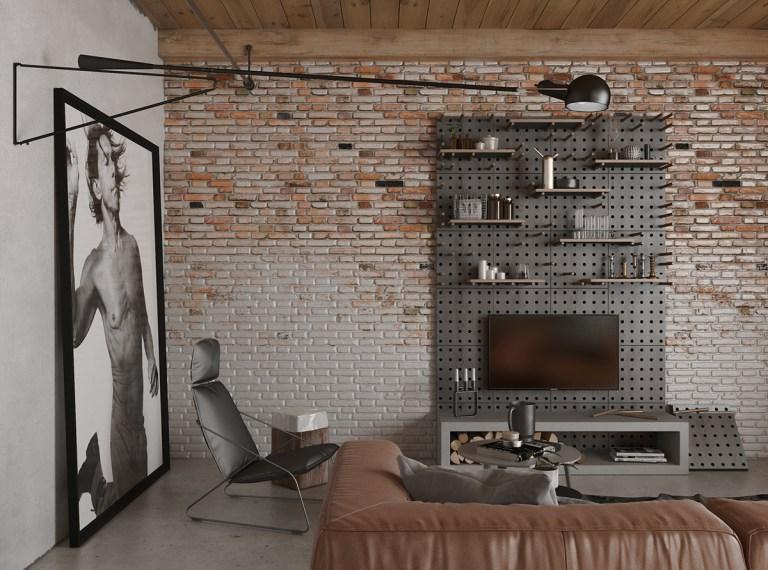 un estilo industrial en salon